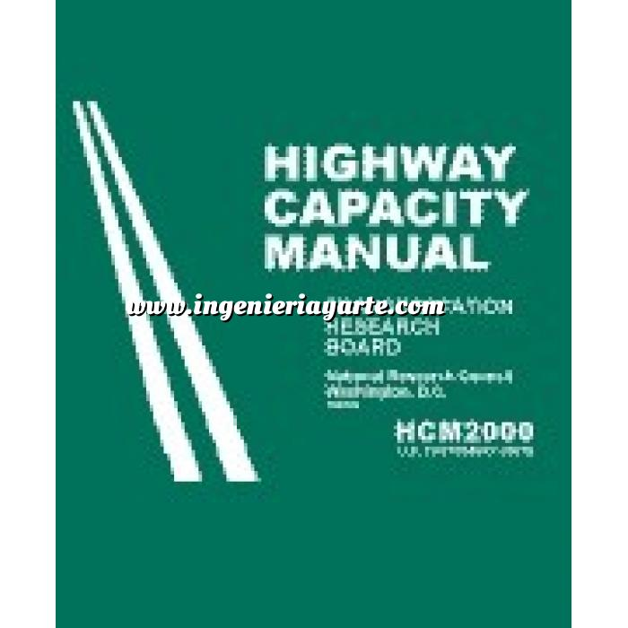 Imagen Carreteras Highway capacity manual 2000 U.S. customary (HCM2K)